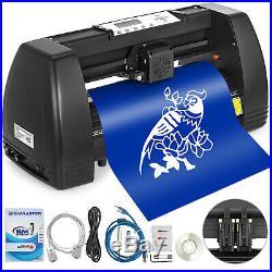 Vinyl Cutter Plotter Cutting 14 Sign Sticker Making Print Software 3 Blades Usb
