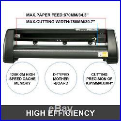 Vinyl Cutter Plotter Cutting 34 Sign Sticker Making Print Software 3 Blades Usb
