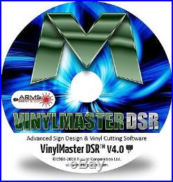 Vinyl Cutter Plotter Heat Press Software Sign T-Shirt Apparel Business VM DSR