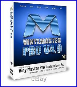 Vinyl Cutter Sign Cutting VinylMaster PRO Professional Design + Cut Software