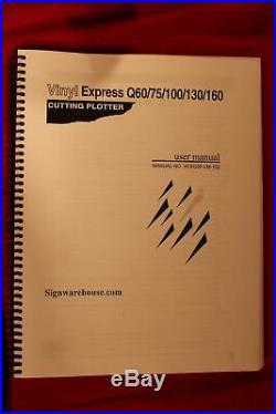 Vinyl Express Q60 VINYL CUTTER/PLOTTER 24 w x 10 m. W. Lots of Software + man