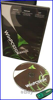 WinPCSIGN BASIC 2009 USB DONGLE SOFTWARE VINYL CUTTER PLOTTER LETTERING
