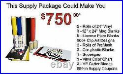 WithSoftware Vinly Sign Plotter Great Starter Bundle Kit 31 Vinyl Cutter Machine